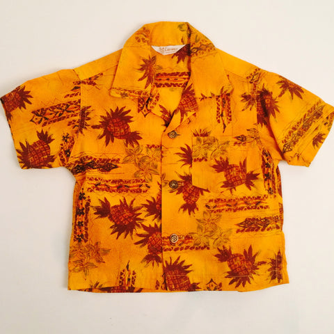 Vintage Kid's Aloha Pineapple Shirt Sz. 3