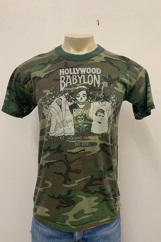 Vintage Camo Tee Screened by Babylon M