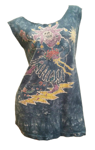 Vintage Grateful Dead Tie Dye Batik Tour T-Shirt / Dress