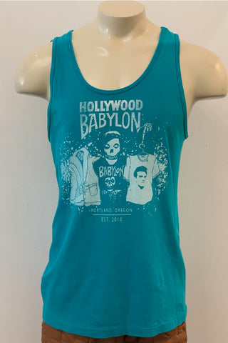 Vintage Turquoise Tank Screened by Babylon L