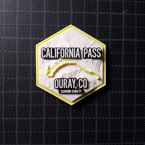 Trails of Ouray : California Pass  | 3D Topographic PVC patch