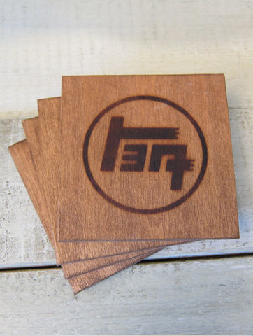 TEQ Branded Wood Coaster Set