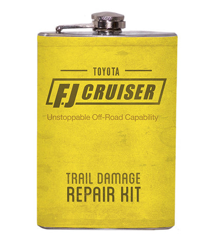 FJ Unstoppable Off-Road Capability - Trail Damage Repair Kit 8oz Flask