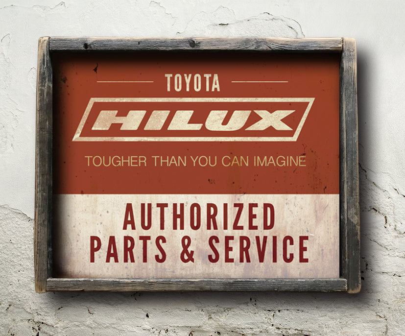 Toyota Hilux Authorized Parts & Service Sign