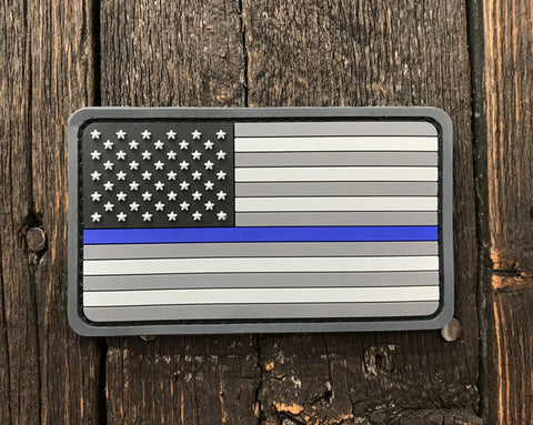 US Flag PVC Thin Blue Line