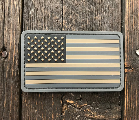 US Flag PVC ACU-Dark
