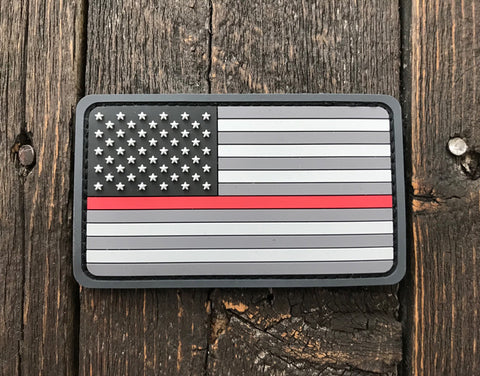 US Flag PVC Thin Red Line