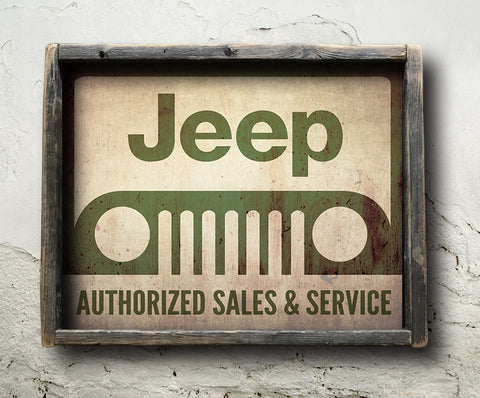 Jeep Authorized Service Sign