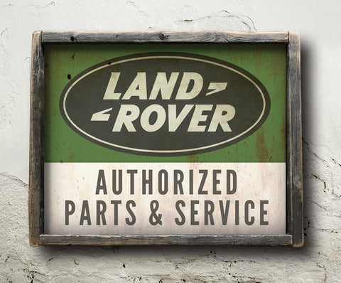 Land Rover Sales & Service Sign