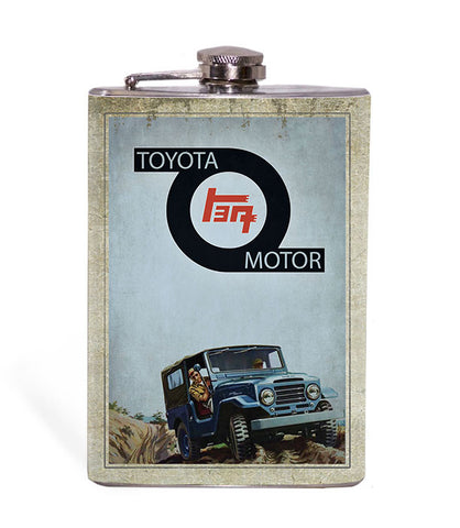 "TEQ ""Toyota"" Vintage Look 8oz Flask"