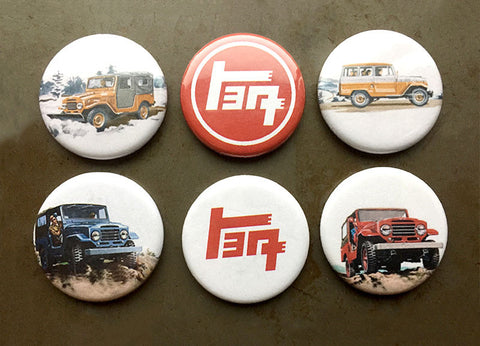 Vintage Appeal Land Cruiser Magnets