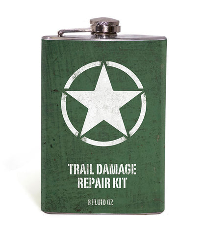 Willys Jeep Star Trail Damage Repair Kit 8oz Flask
