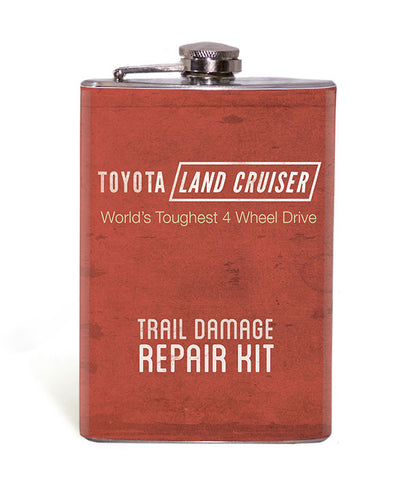 Land Cruiser Trail Damage Repair Kit- Red - 8oz Flask