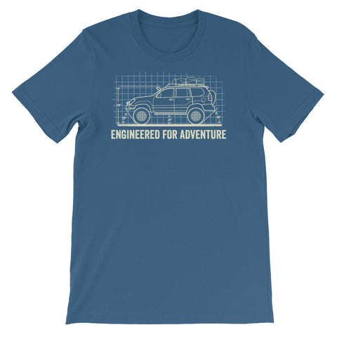 Engineered for Adventure: Lexus GX Short-Sleeve Unisex T-Shirt