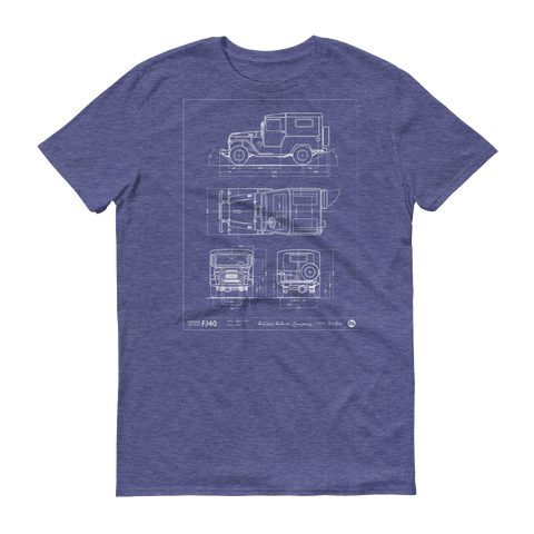 Blueprint: FJ40 short sleeve t-shirt