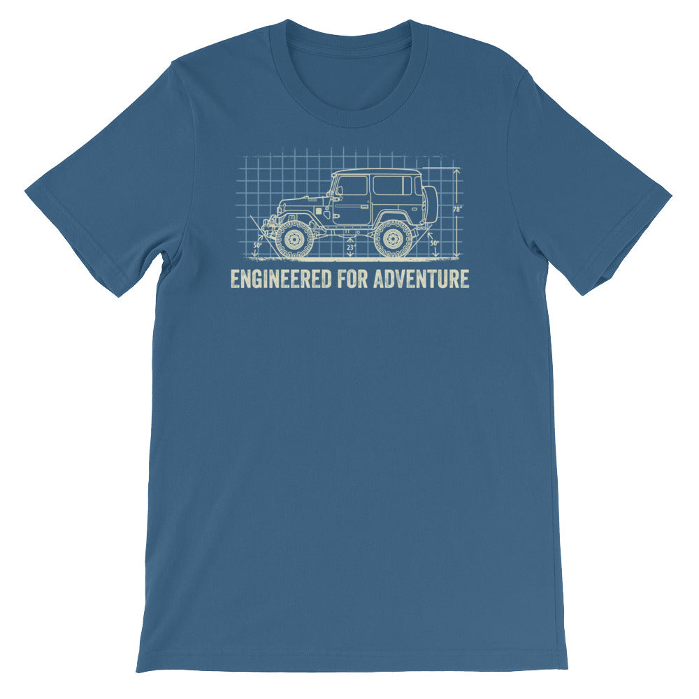 Engineered for Adventure: Land Cruiser FJ40 Short-Sleeve Unisex T-Shirt
