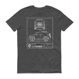 FJ Cruiser Blueprint short sleeve t-shirt