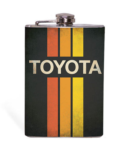 Retro Toyota Logo - 8oz Flask