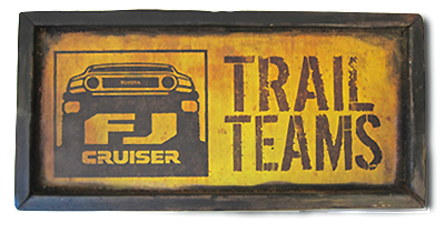 FJ Cruiser Trail Team Sign