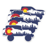 Colorado Vehicle Silhouette Sticker
