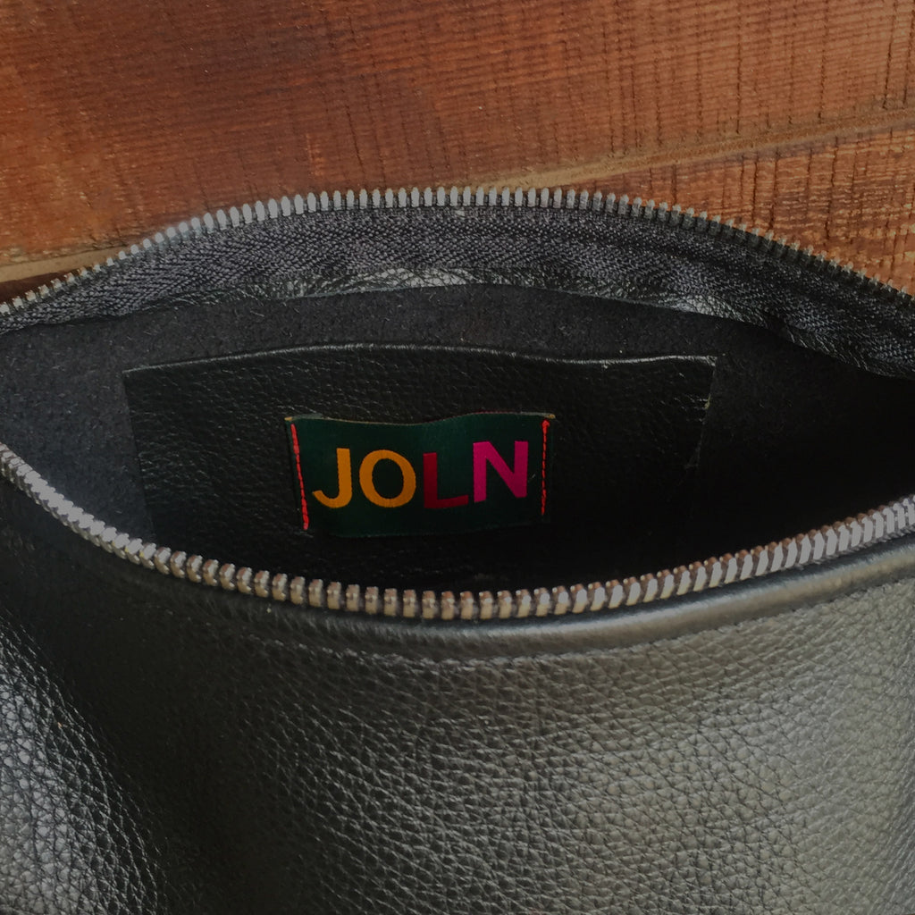 JOLN Ashland Black & Saddle Leather Bag
