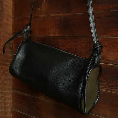 JOLN Ashland Black & Olive Leather Bag