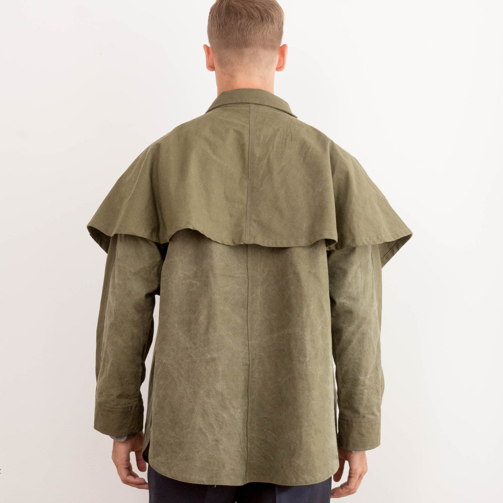 Unisex Military Tent Cape Washed Olive