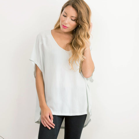 Women's Reclaimed Chiffon Faded Mint Box Tee