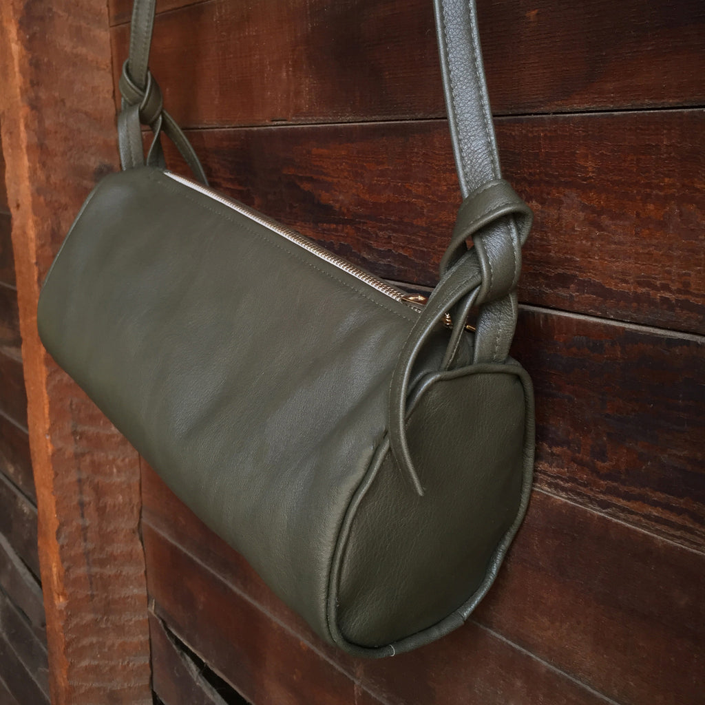 JOLN Ashland Olive Leather Bag