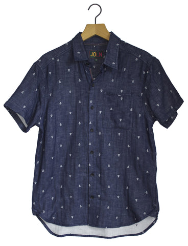 Mens Short Sleeve Recycled Anchor Shirt