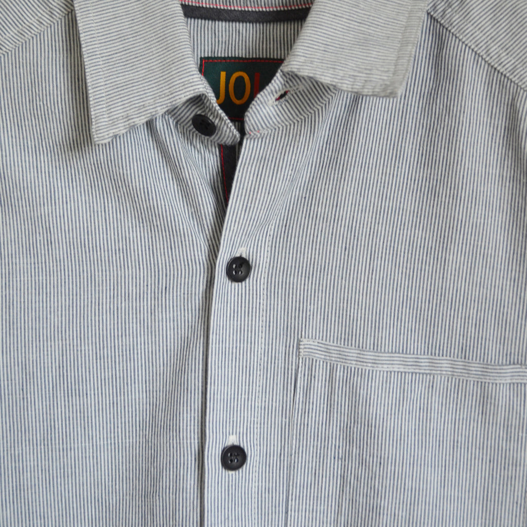 Mens Short Sleeve Recycled Stripe Shirt