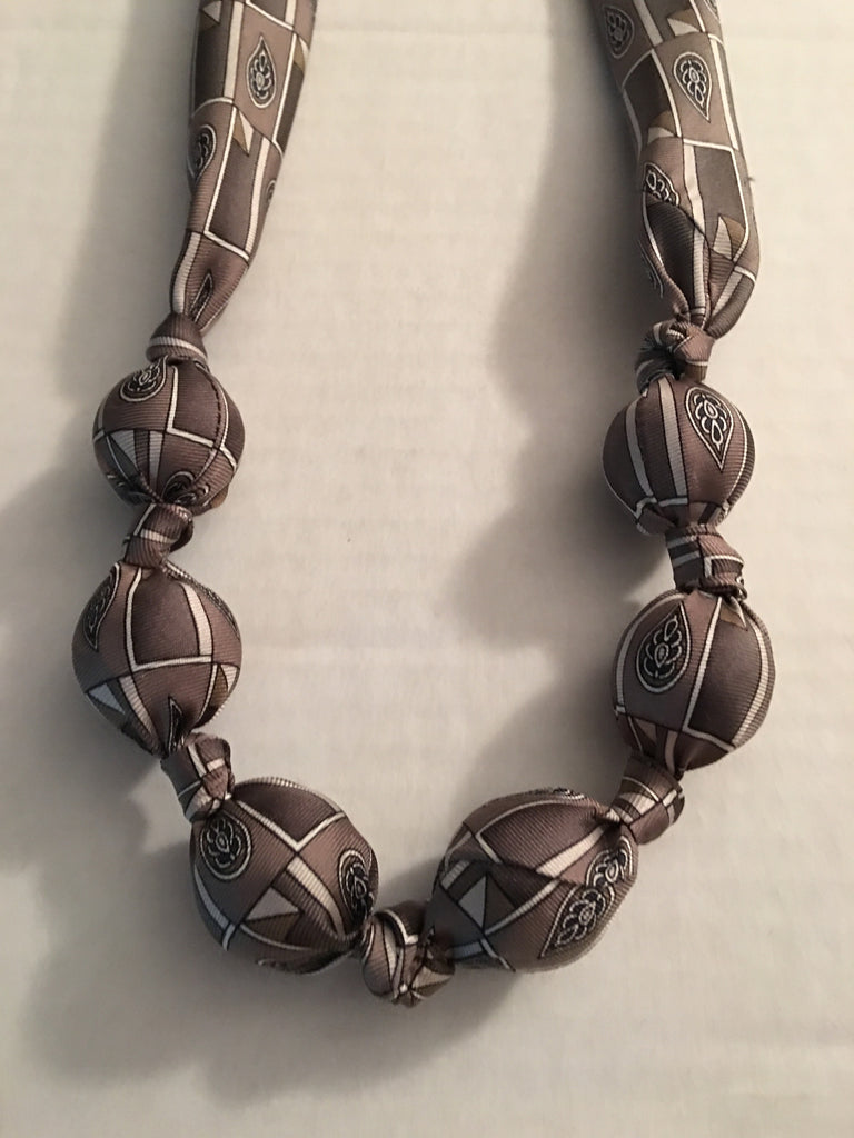 Up Cycled Tie Necklace
