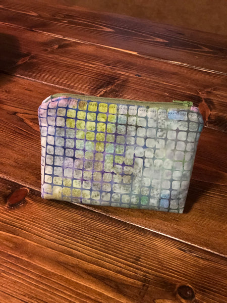 Essential Oil Bag - Purple/Blue/Green Squares