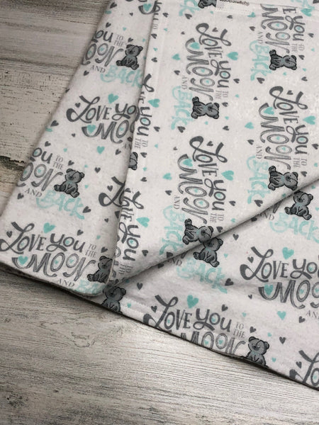 Love You to the Moon and Back Flannel Blanket