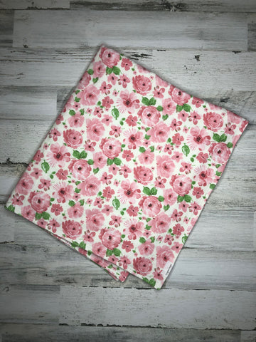 Whimsical Floral Flannel Blanket