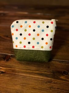 Essential Oil Bag - Cream Polka Dot