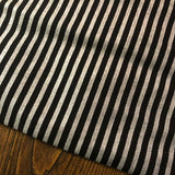 Accent Table Runner - Black/Silver Metallic Stripe
