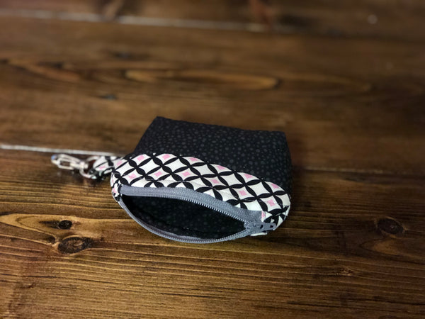 Essential Oil Bag - Black/Pink/White KeyChain