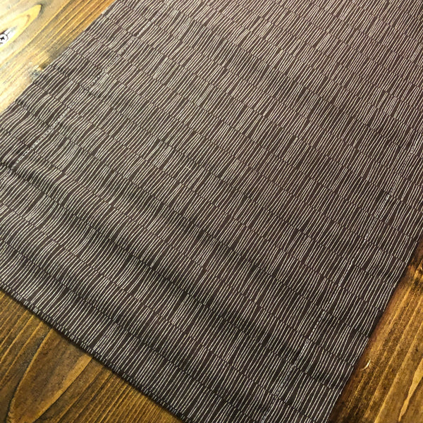Accent Table Runner - Chocolate Brown/Cream Lines