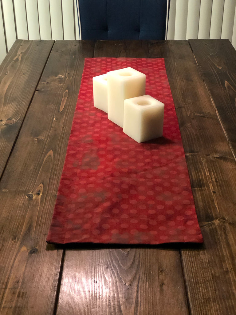 Accent Table Runner - Red Dot