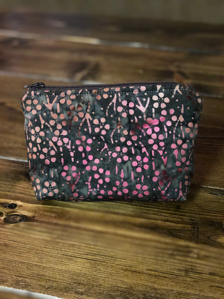 Essential Oil Bag - Brown/Pink Flowers