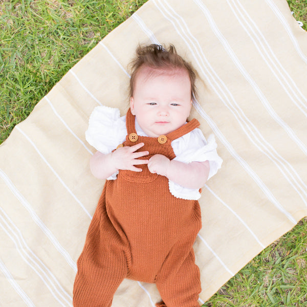 Baby Turkish Towel - Mustard