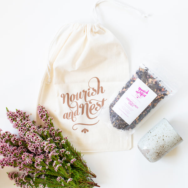 Tea Lover Gift Pack - organic tea & pottery tumbler