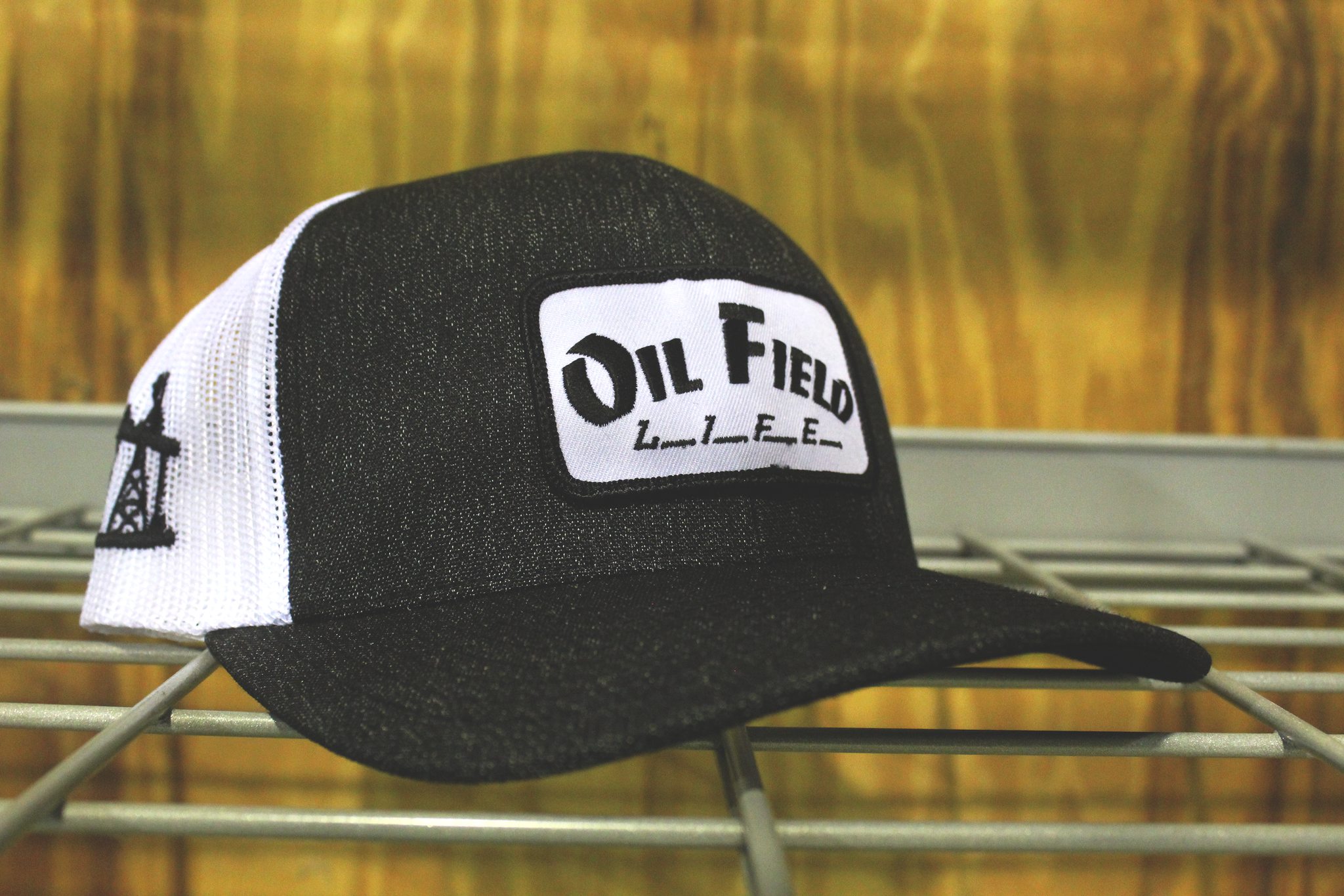 Oil Field Life Heather Black Patch Cap – Oil Field Hats 761a651612c