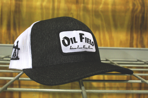 Oil Field Life Heather Black Patch Cap
