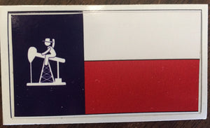 "PJ Cowboy 3"" X 5"" Texas Flag Sticker"