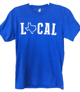 "Royal Blue ""Local"" Texan shirt"