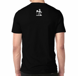 Oil Field Life White on Black Shirt