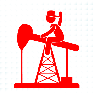 6 x 6 Red PJ Cowboy Sticker