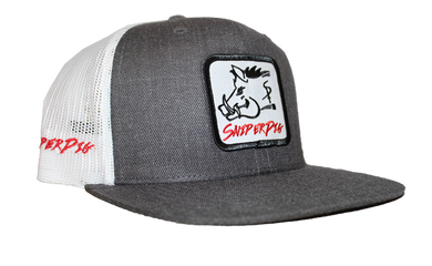 Heather Gray Sniper Pig Patch Cap